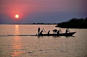 Fisherman on Lake Tanganyika, Mishemba Bay, Za...