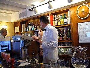 Harry's Bar interior. Venice Italy.