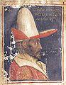 Pergamena del 1440 circa, rappresentante Giovanni VIII Paleologo.