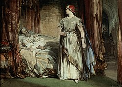 Lady Macbeth in un dipinto di George Cattermole