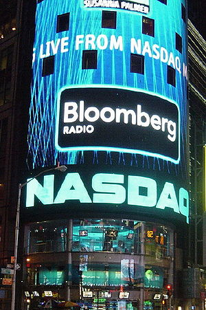 NASDAQ in Times Square, New York City, USA.