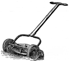 push mower wiring diagram labeled of a ship lawn wikipedia an early cylinder reel showing fixed cutting blade in front the rear roller and wheel driven rotary blades