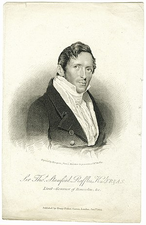 Sir Stamford Raffles, regarded as the founder ...