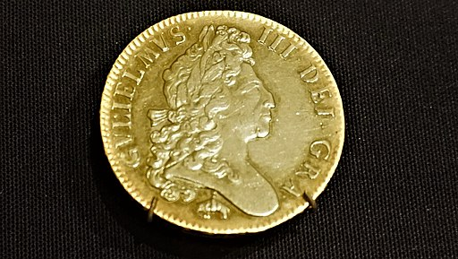 William III Five Guinea Coin, 1699 - Bank of England Museum
