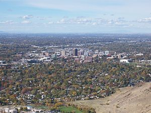Bird's-eye view of Boise, Idaho in 2007. Eesti...