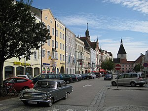 City center of Braunau am Inn Türkçe: Braunau ...