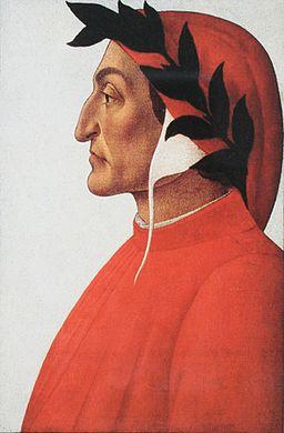 Dante Alighieri's portrait by Sandro Botticelli