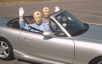 Vince and Larry the crash test dummies, who ap...