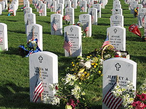 Gravesites located in a very new section of Fo...