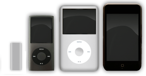These are the current models of the iPods from...