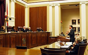 English: Oral argument before the Florida Supr...