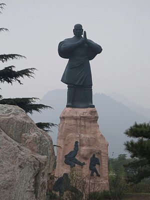 Shaolin Monastery entrance statue Any use shou...
