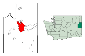 Spokane in Spokane County