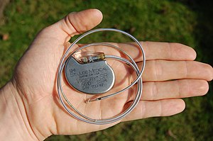 An artificial pacemaker from St. Jude Medical,...