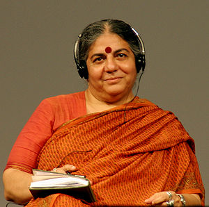 Vandana Shiva, Right Livelihood Award 1993, at...
