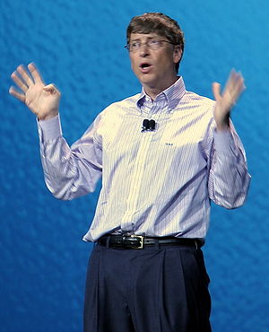 Bill Gates in business-casual attire.