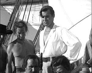 Clark Gable as Fletcher Christian in a screens...