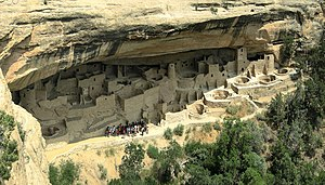 Cliff Palace in Mesa Verde National Park, Colo...