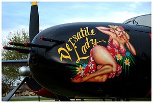 "Painted nose section of a Douglas B-26C ""..."