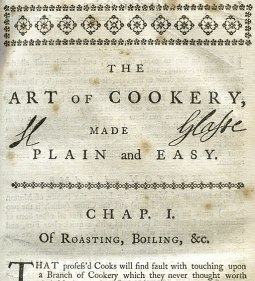 Glasse Art of Cookery 1758 Signature