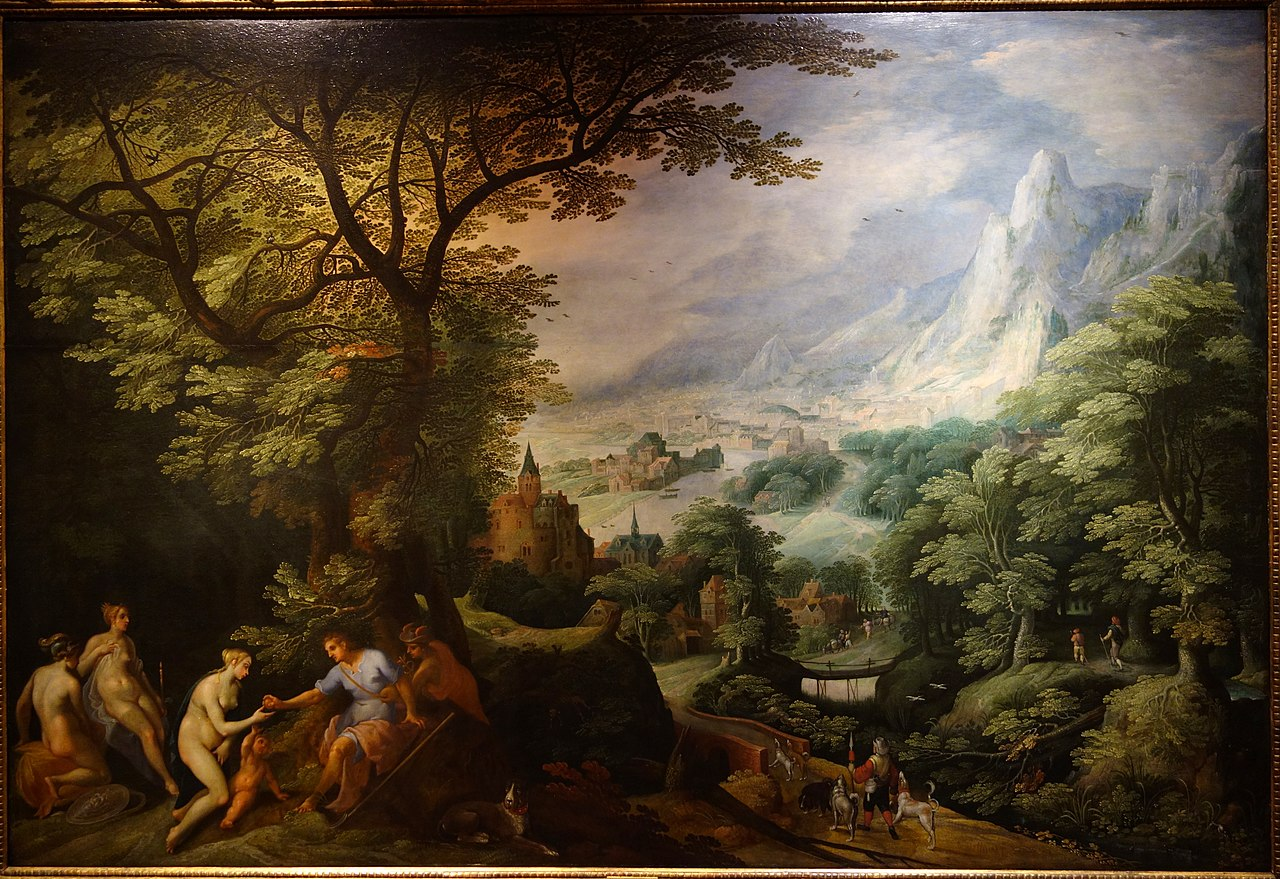 FileLandscape with the Judgement of Paris by Gillis van Coninxloo late 1500s to early 1600s