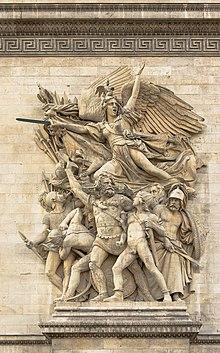 le depart des volontaires la marseillaise par rude arc de triomphe etoile paris