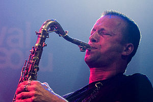 Mats Gustafsson at Moers Festival, June 2006, ...