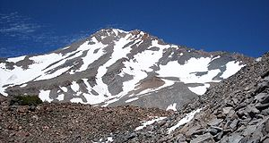 English: The west face of Mount Shasta. Photo ...