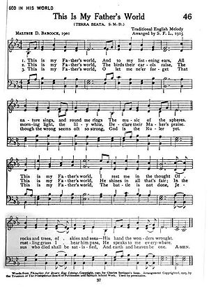 English: This is a copy of sheet music of &quo...