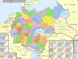 Ubicación de Nazi-Deutschland / Alemania nazi / Tercer Reich
