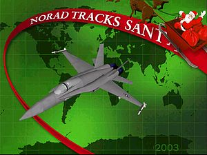 English: NORAD Tracks Santa 2003