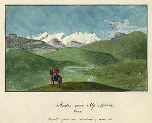 """Andes, near Alparmarca (i.e. Alpamarca),..."