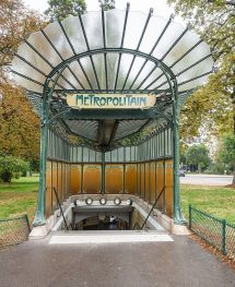 Paris Metro Station Entrance to the Dauphine