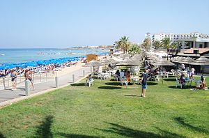Protaras beach at Paralimni holiday destinatio...