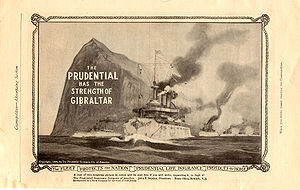 English: Old advert of the Prudential Insuranc...