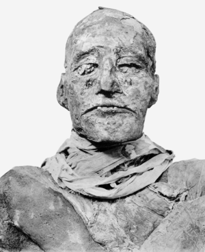 English: Head of mummy of pharaoh Ramesses III...
