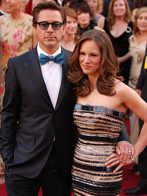 Robert Downey Jr. and wife Susan arrive at the...