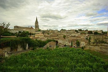 The French wine region of Saint Émilion on the...