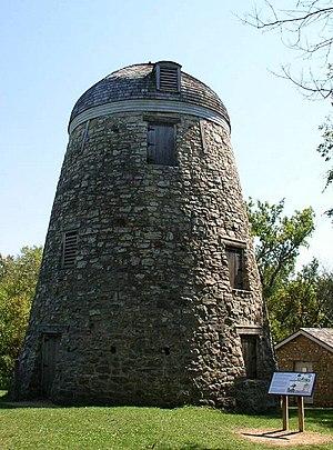 A wind-powered grist mill built by Louis Seppmann