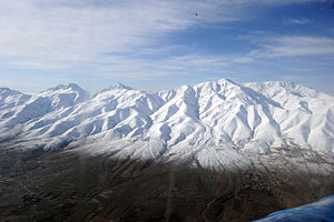 Snow covered mountains in Ghazni, Afghanistan.