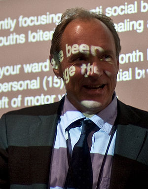 Tim Berners-Lee speaking at the Home Office in...