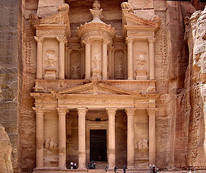 The ancient city of Petra, one of the New Seven Wonders of the World