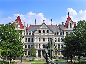 New York State Capitol Building, completed in ...