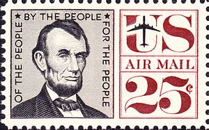 US Postage Issue: Abraham_Lincoln_Airmail_1960...