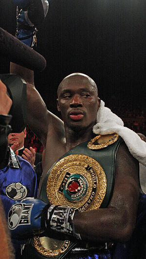 English: Antonio Tarver after a boxing match a...