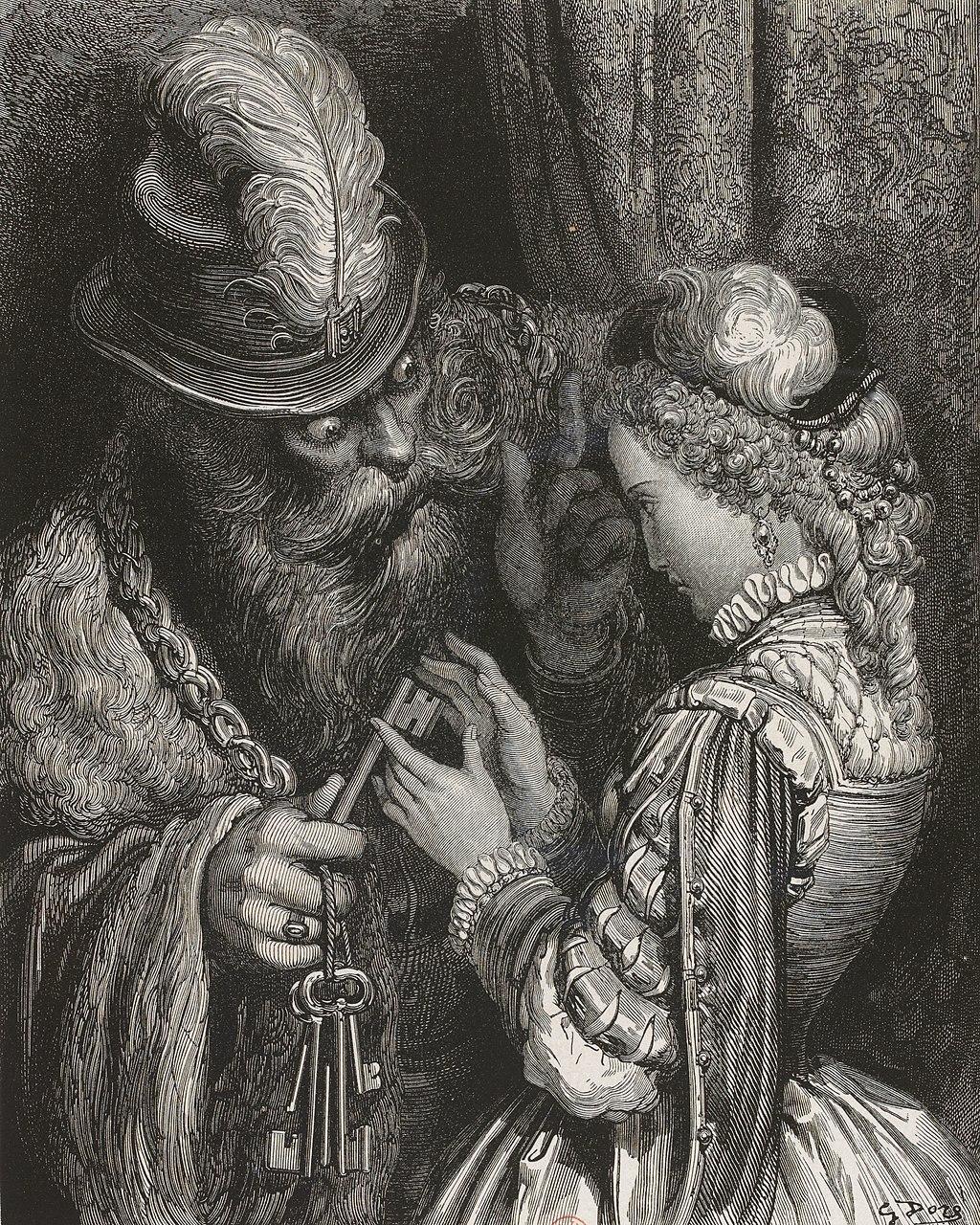 Illustrazione storica di Barbablù