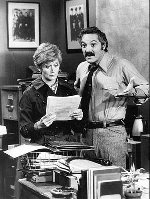 Publicity photo of Hal Linden and Barbara Barr...
