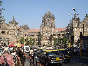 Česky: Nádraží čhatrapatiho Šivádžího v Bombaj...
