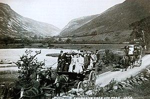 Corris Railway charabancs on the Grand Tour pa...