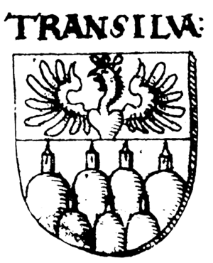 Coat of arms of Transilvania, as shown for the...